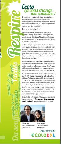 «Ecolo, ça vous change une commune !» – Respire mars 2012